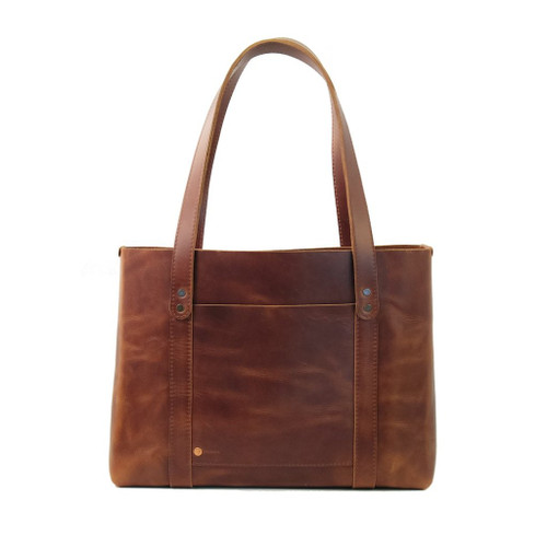 Leather Tote - Hideout by Rustico - Saddle - Back Side