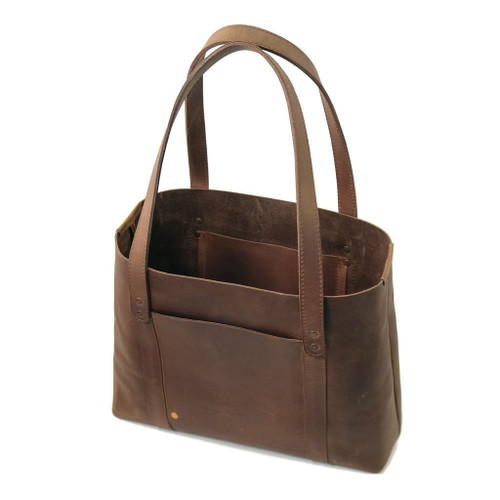 Leather Tote - Hideout by Rustico - Dark Brown - Handcrafted