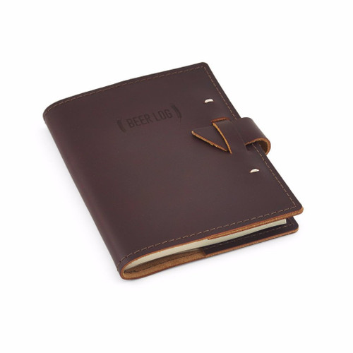 Rustico Leather Beer Tasters Log Book - Side