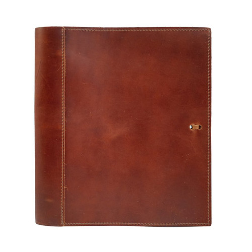 "Rustico Soft Leather Binder with 1.5"" Rings 8"" x 11"""