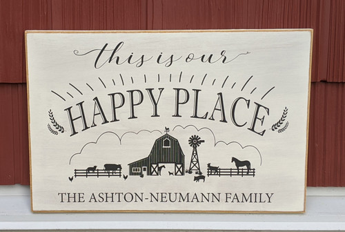 This is our happy place family sign