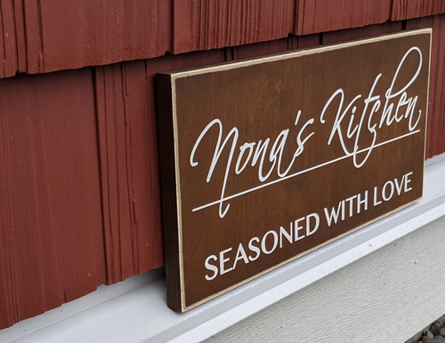 Personalized Kitchen Sign - Side View
