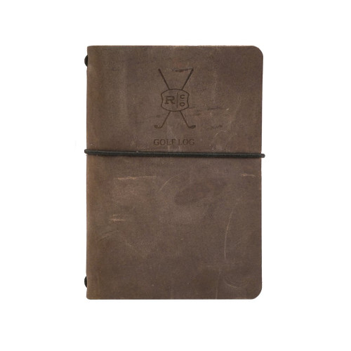 Leather Golf Log - Refillable - Brown