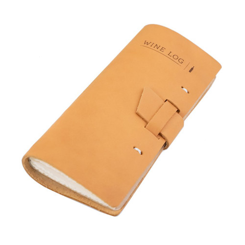 Rustico Leather Wine Log Book - Side
