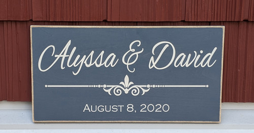 Personalized First Name Sign for Couple with Established Date