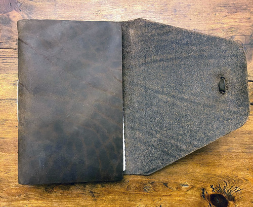 """REDUCED - AS SHOWN - Rustico Messenger Leather Journal 7"""" x 9"""""""