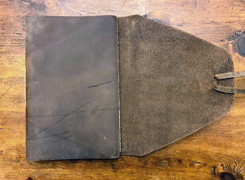 """REDUCED - AS SHOWN - Rustico Messenger Leather Journal 7"""" x 9""""."""
