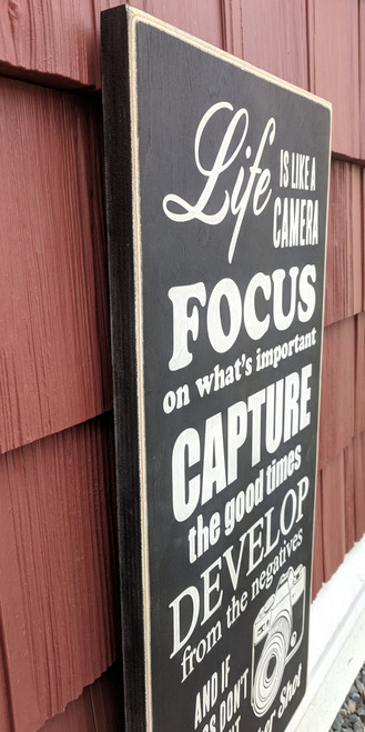 Handmade Life is like a camera sign