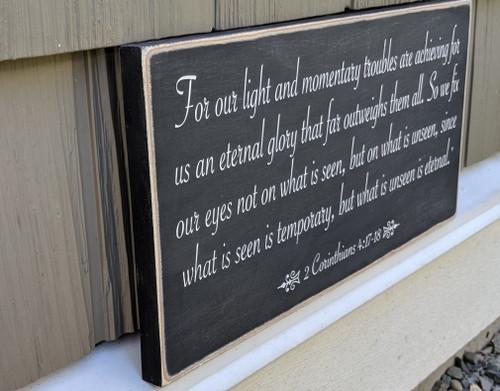 2 Corinthians 4:17-18 Sign