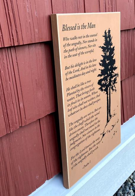 Psalm 1 - Wood Sign