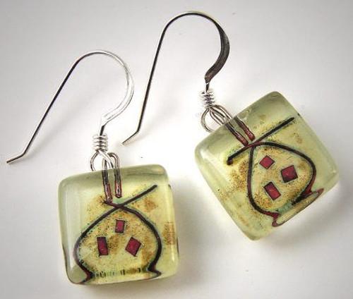 Momo Glassworks Pomegranate Earrings