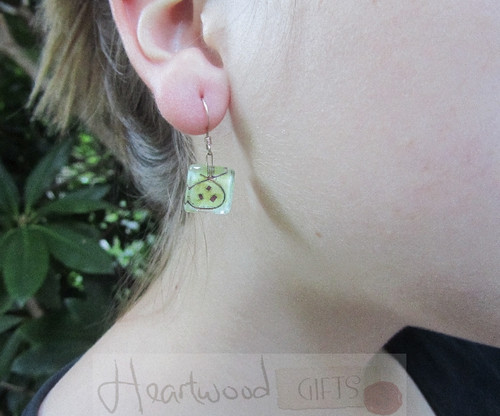 Model with Momo Glassworks Pomegranate Earrings