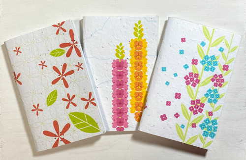 Thought Plotters Plantable Pocket Notebooks 3pk - Floral
