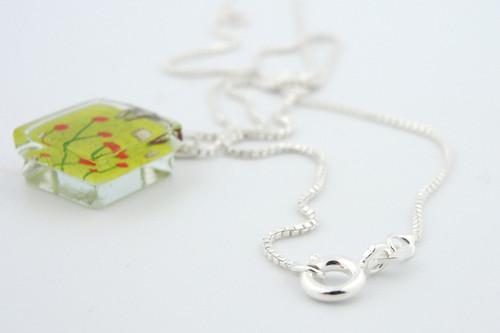 Glass Charm - Admist Poppies