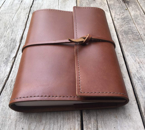refillable leather journal notebook with lined paper