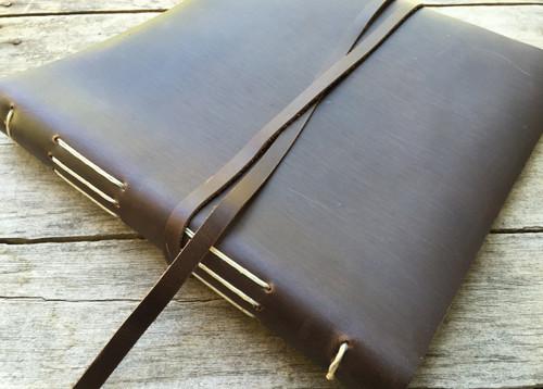 Rustico Leather Journal Big Idea Album - Dark Brown