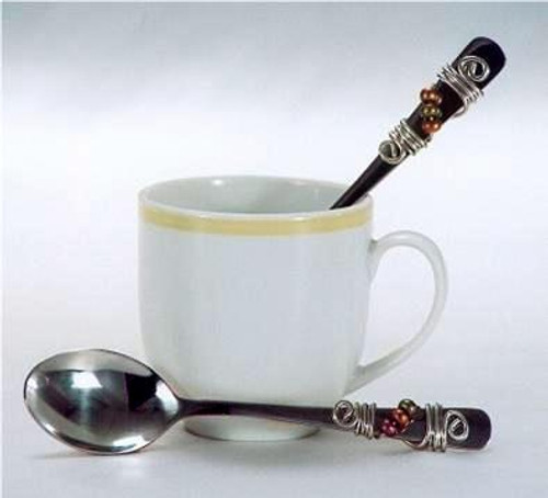 Dazzling Gourmet Beaded Espresso Spoon