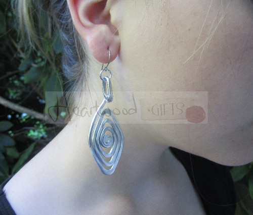 spiral eye aluminum earrings