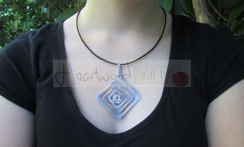 aluminum diamond pendant