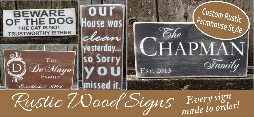 Farmhouse Rustic Wood Signs