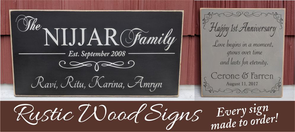 rustic wood signs family and custom signs