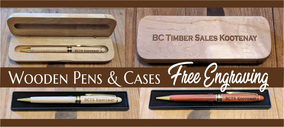 personalized gifts wood pens and cases