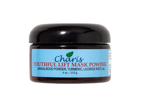 The Charis Beauty Collection 100% natural mask powder is designed for removing impurities from the pores, sloughs away dead skin cells, removes excess oils, adds nutrients to the skin, and diminishes fine lines and wrinkles. Allows the skin to have a health glow.