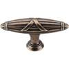 Top Knobs - Ribbon & Reed T-Pull   - German Bronze (TKM930)