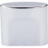 Top Knobs - Small Oval Slot Knob   - Polished Chrome (TKTK73PC)