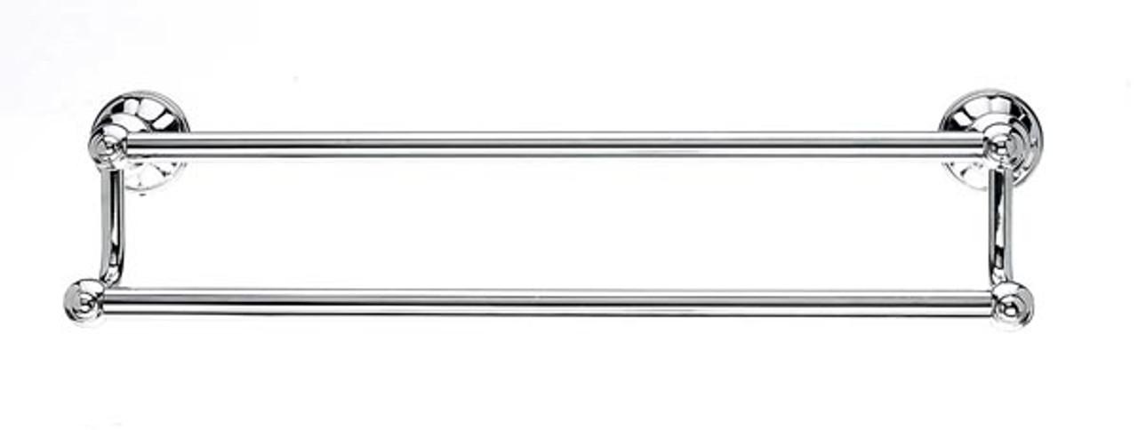 Top Knobs - Bath Double Towel Rod - Polished Chrome (TKHUD7PC)