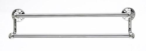 Top Knobs - Bath Double Towel Rod - Polished Nickel (TKHUD7PN)