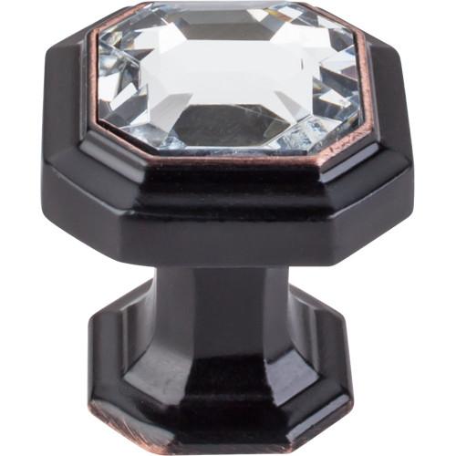 "Top Knobs - Crystal Emerald Knob 1 1/8"" - Tuscan Bronze (TKTK390TB)"