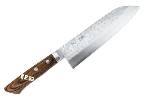 KIKUMITSU Santoku Tsuchime Stainless Steel 170mm