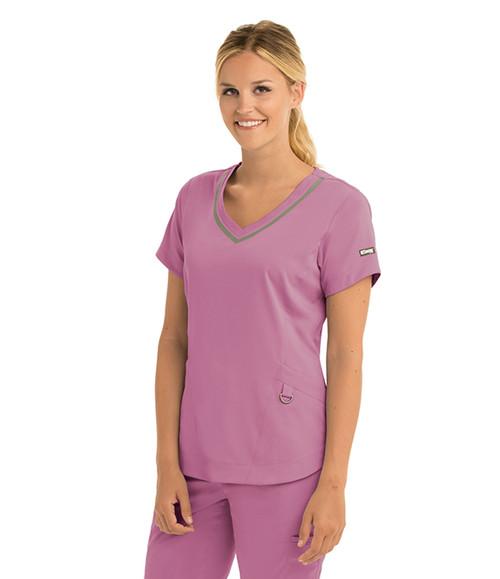 Grey's Anatomy Harmony V-neck Scrub Top - Impact 3 Pocket (7187)