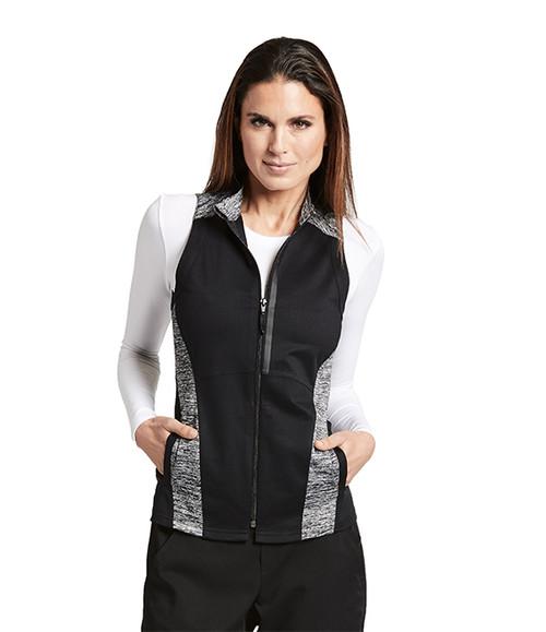GIV001 Women's Panel Zip Front Vest