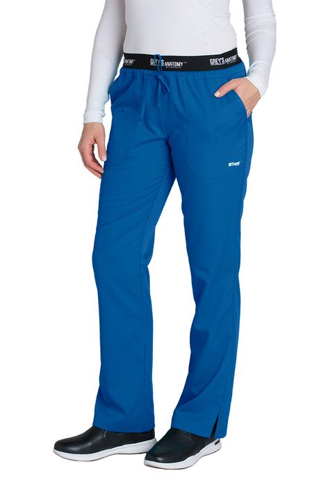 (4275P) Active 3 Pocket Logo Elastic Waist Scrub Pants (Petite)