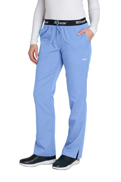 (4275T) Active 3 Pocket Logo Elastic Waist Scrub Pants (Tall)