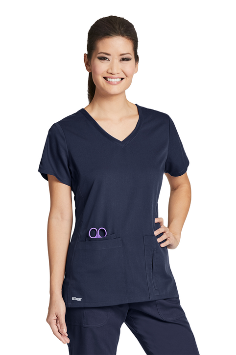 Grey's Anatomy 41423 V-Neck Top - 4 Pocket Crossover Scrub