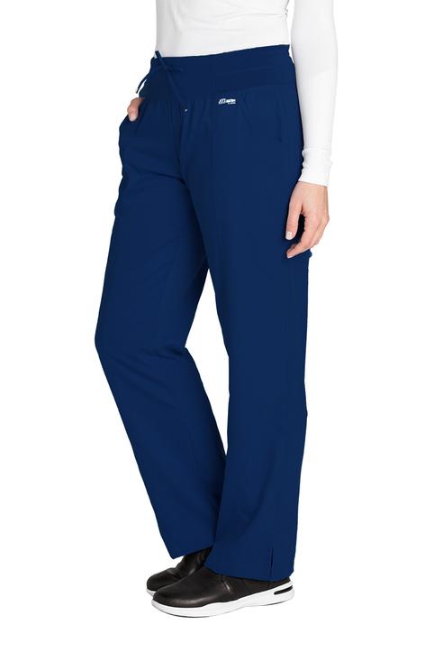 (4276T) Active 4 Pocket Yoga Knit Waistband Scrub Pant (Tall)