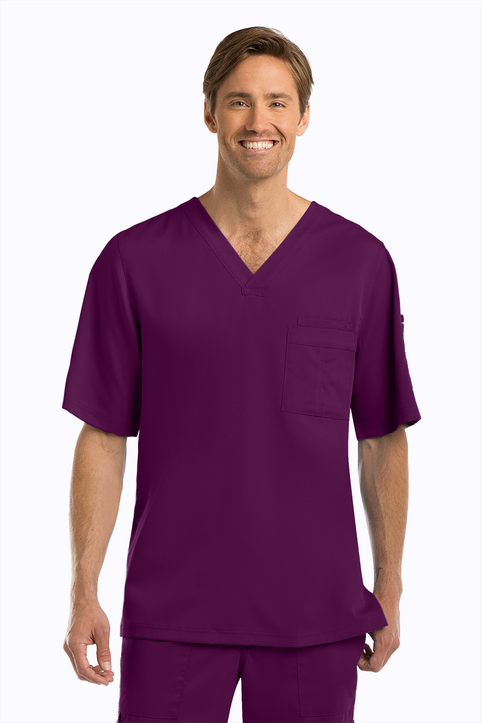 3 Pocket High V Neck Scrub Top  Grey's Anatomy (0103)