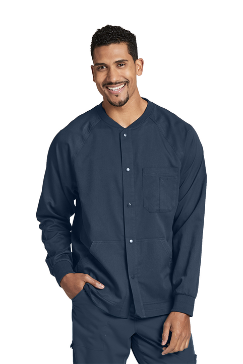 Men's 5-Pocket Raglan Warm Up Scrub Jacket 0406