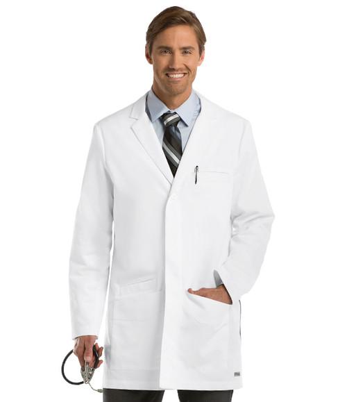 """(0917) Men's 6 Pocket 35"""" Side Vent Labcoat"""