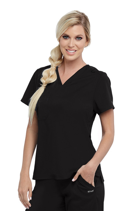 (GVST028) 1 Pocket V-Neck Scrub Top