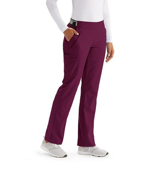 (GVSP515) Spandex Stretch 5 Pocket Knit Waist Scrub Pant