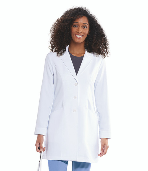 2-Pocket Stretch 3-Button Lab Coat GNC001