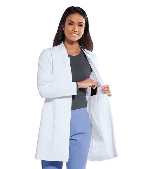 3-Pocket Fully Lined Snap Front Lab Coat GNC003