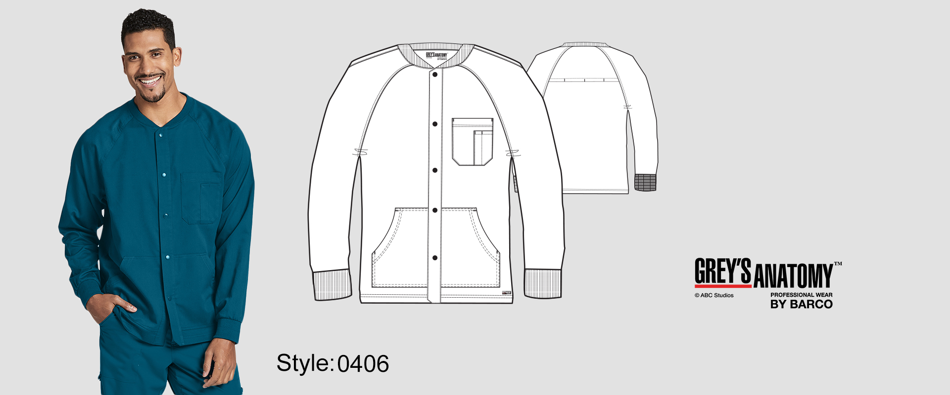 (0406) Scrub Jacket