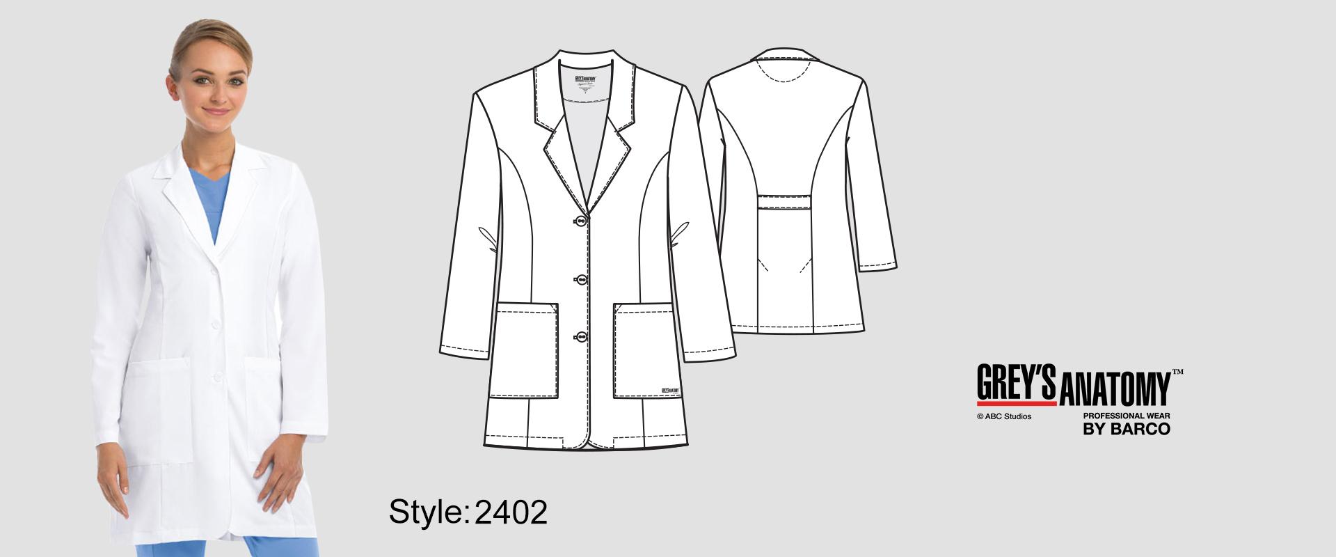 (2402) Lab Coat