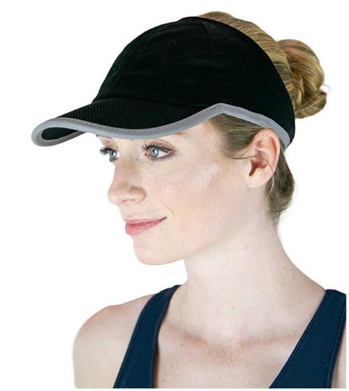 ChicPlay Sport - Ponytail Messy Bun Baseball Cap, Rayon Mesh, The Ultimate Runner Hat