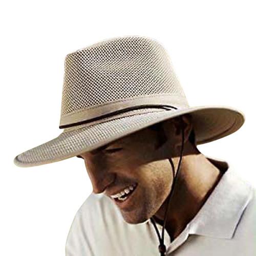 Henschel Aussie Breezer Original Made in USA Cotton Mesh Hat 5312 / 5310 from Miami Hat Shop, UPF50+, Packable